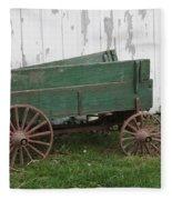Green Wagon Fleece Blanket