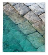 Green Water Blocks Fleece Blanket