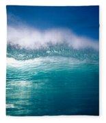 Green Wave Fleece Blanket