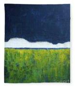 Green Wheat Field Fleece Blanket