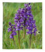Green-winged Orchids Fleece Blanket