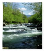 Greenbrier River Scene Fleece Blanket