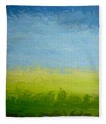 Greener Pasture 3- Digital Painting Fleece Blanket