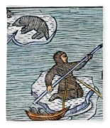 Greenland Eskimos, 1555 Fleece Blanket