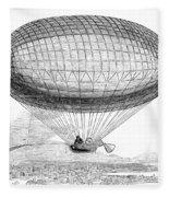 Greens Balloon, 1857 Fleece Blanket