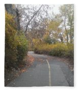 Greenway Trail In The Fall Fleece Blanket