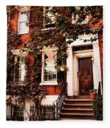 Greenwich Village Charm Fleece Blanket