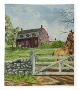 Greeting At The Gate Fleece Blanket
