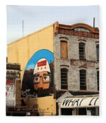 Greetings From Dystopia City -- Washington D C Fleece Blanket