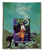 Greetings From The Otherworld Don Maitz Fleece Blanket