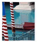 Greetings From Venice Fleece Blanket