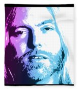 Gregg Allman 1947 2017 Fleece Blanket