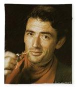 Gregory Peck, Vintage Actor Fleece Blanket