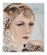 Greta Garbo As Matahari Fleece Blanket