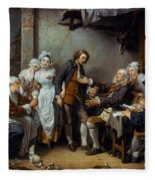 Greuze: The Village Bride Fleece Blanket