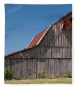 Grey Barn Fleece Blanket