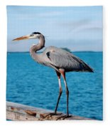 Grey Heron Fleece Blanket