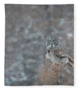 Grey In Snow Fleece Blanket