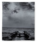 Grey Sun Fleece Blanket