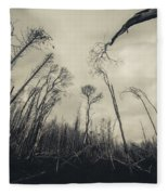 Grey Winds Bellow  Fleece Blanket