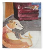 Greyhound And Spaniel Fleece Blanket