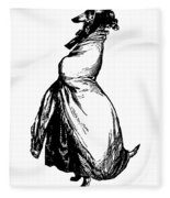 Greyhound Grandville Transparent Background Fleece Blanket