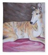 Greyhound Number 2 Fleece Blanket
