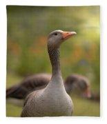 Greylag Goose Fleece Blanket