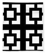 Grid 1  Fleece Blanket