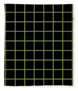 Grid Boxes In Black 09-p0171 Fleece Blanket