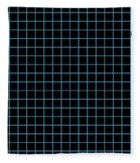 Grid Boxes In Black 18-p0171 Fleece Blanket