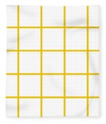Grid Boxes In White 05-p0171 Fleece Blanket