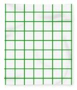 Grid Boxes In White 09-p0171 Fleece Blanket