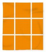 Grid In White 03-p0171 Fleece Blanket