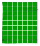 Grid In White 09-p0171 Fleece Blanket