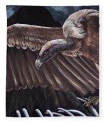 Griffon Vulture Fleece Blanket