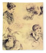 Griffonnage 1814 Fleece Blanket