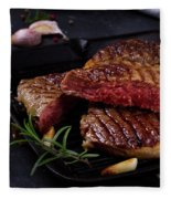 Grilled Beef Steak Fleece Blanket