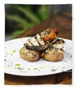 Grilled Fish With Roast Potato Herbs And Garlic Fleece Blanket