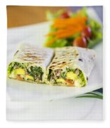 Grilled Vegetable And Salad Wrap Fleece Blanket