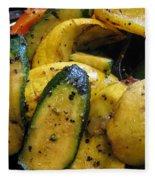 Grilled Veggies Fleece Blanket