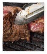 Grilling Steak Fleece Blanket