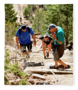 Grinding It Out On The Manitou Incline And Barr Trail Fleece Blanket