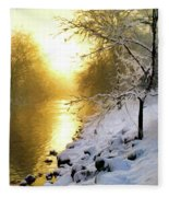 Grings Mill Fog 90-010 Fleece Blanket