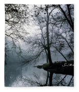 Grings Mill Fog 1043 Fleece Blanket