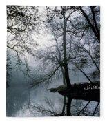 Grings Mill Fog 1043 Fleece Blanket