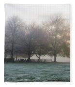 Grings Mill Fog 15-016 Fleece Blanket