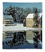 Grings Mill Snow 001 Fleece Blanket