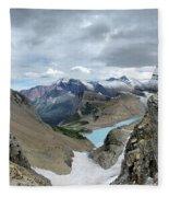 Grinnell Glacier Overlook - Glacier National Park Fleece Blanket