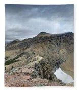 Grinnell Glacier Overlook Panorama - Glacier National Park Fleece Blanket